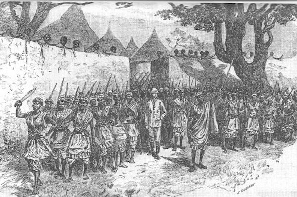 painting of the Dahomey women warriors