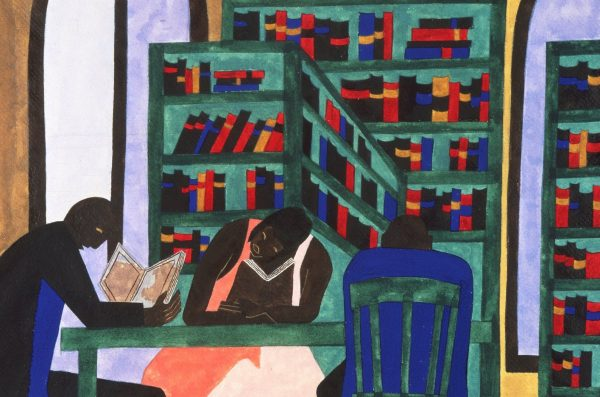 Black folks in a library