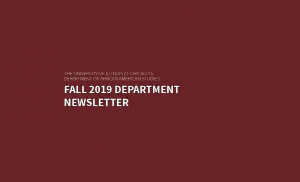 Fall 2019 African American Department Newsletter