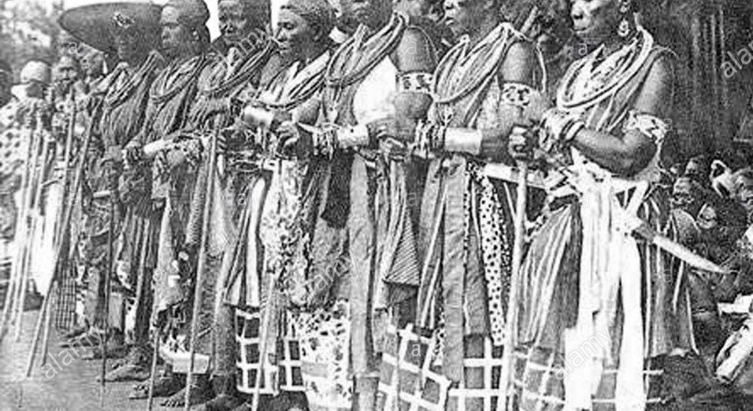 photo of the Dahomey women warriors