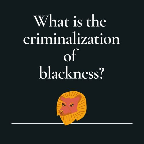 Reads: What is the criminalization of blackness?