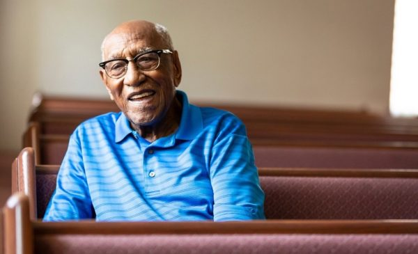 Timuel Black activist and historian, seen here at Roberts Temple Church in 2019
